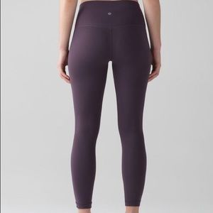 Lululemon Dark Cherry full length Leggings
